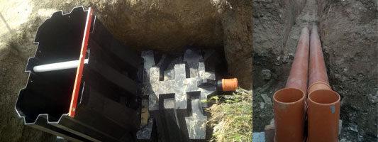 Автономная канализация хозяйства в Холмовке. Септик в г.Судак