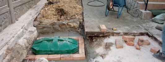 Переделка бетонных выгребных ям в биостанции